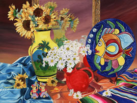 103 - Still Life With Mexican Vase