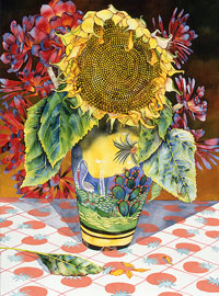 151 - Sunflower with Cactus