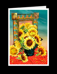 SW03_126-Sunflowers With Mexican Mirror